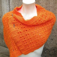 Clementina Wrap PDF knitting pattern Scarf by LaboutiquedeJosefina