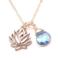 Lotus Flower Necklaceyoga jewelry by charmeddesign1012 on Etsy