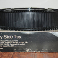 Vintage Black  Rotary 80 Slide Tray for Kodak Carousel by Keystone