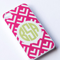 Monogrammed Chevron iPhone 5 Case , Personalized Case , Monogram iPhone Case , iPhone 4 case , iphone 4s case , Chevron Case