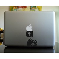 Apple Macbook Vinyl Decal Sticker - Mario Apple