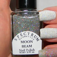 SILVER Holographic Glitter nail Polish MOON BEAM