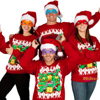 TMNT Christmas Faux Ugly Sweater