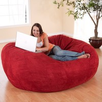Medium 6 ft. Premier Micro Suede Fuf Foam Bean Bag Sofa | www.hayneedle.com