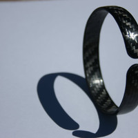 Pure Carbon Fiber Bangle Bracelete