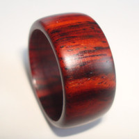 Wood Ring Wide Cocobolo Rosewood - Shipping Included