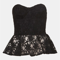 Topshop Lace Peplum Bustier | Nordstrom