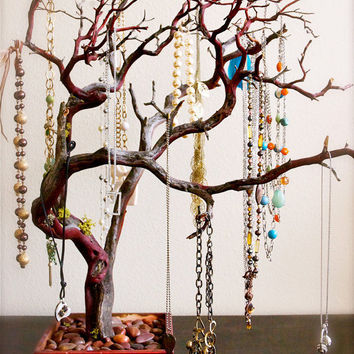Red Jewelry Tree by heartnotincluded on Etsy