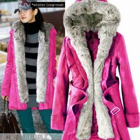 Korean Style Cute and Sweety Fur Embellish Coat For Female China Wholesale - Sammydress.com