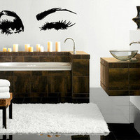 Beautiful Eyes Big Eye Lashes Wink Decor Wall Art Mural Vinyl Decal Sticker M462