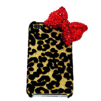Bling Leopard Iphone 4 Case, Red Bo.. on Luulla