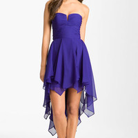 Hailey by Adrianna Papell Notched Bodice Chiffon Dress | Nordstrom
