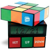Colorful LCD Display Rubik's Cube Alarm Clock
