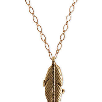 Lucky brand necklace gold tone from macy 39 s for Macy s lucky brand jewelry