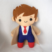 "PDF PATTERN - 9"" Human Plush David Tennant/Castiel"