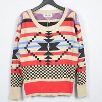 Aztec Happiness Knit Sweater by Spikes and Seams