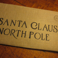 Santa Claus Letter Cotton Canvas Envelope Bag