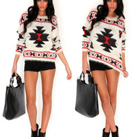 New Nordic Aztec Super Soft Fluffy Jumper Top Womens Ladies UK 8 10 12 14