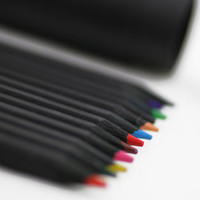 Black Color Pencil Set
