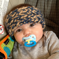 Double Color Knit Baby Headband