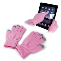 E-volve Touch-Glove Capacitive Material Cold Weather Gear (Pink): Clothing