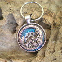 Mermaid Keychain: Blue - Key Chain - Key Ring - Keyring - Fantasy Keychain - Purple Keychain - Free Shipping Worldwide