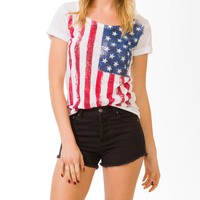 American Flag Burnout Tee