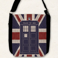 Doctor Who TARDIS - Big shoulder bag / union jack /
