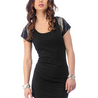 Chain & Dagger Cap Sleeve Dress | Sexy Clothes Womens Sexy Dresses Sexy Clubwear Sexy Swimwear | Flirt Catalog