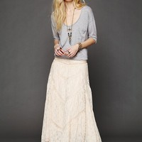 Free People FP X Annie Oakley Lace Skirt
