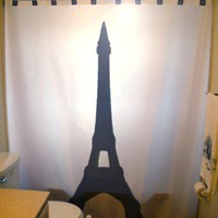 Eiffel Tower Shower Curtain Paris France La Tour Gustave Eiffel iron lattice Champ de Mars Choose from 2 Designs
