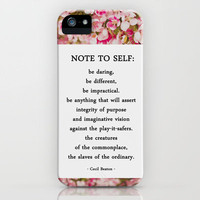 note to self. iPhone Case by lissalaine | Society6