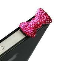 Amazon.com: Magenta / Earphone jack accessory / Bow Dust Plug / Ear Cap / Ear Jack For iPhone / iPad / iPod Touch / 3.5mm: Electronics