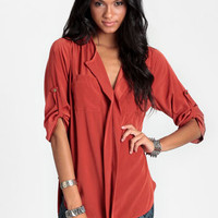 Sixth Sense Collared Blouse - $34.00 : ThreadSence, Women&#x27;s Indie &amp; Bohemian Clothing, Dresses, &amp; Accessories