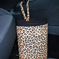 Car Trash Bag - Leopard print