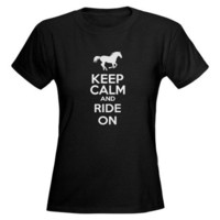 Keep calm and ride on Tee on CafePress.com