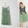 Elegant Pleated Chiffon Casual Long Maxi Skirt Elastic Waist Band Dance Dress