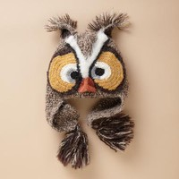 WILD & WHIMSICAL OWL HAT - Merry Winter Warmers - Women | Robert Redford's Sundance Catalog