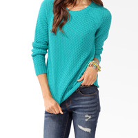 Textured Longline Sweater