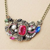 Unique and Sexy Style Restore Ancient Ways Colorful Necklace China Wholesale - Sammydress.com