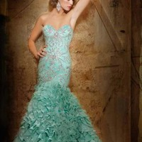 mermaid sweetheart bridal wedding dress custom evening gown prom Strapless ball
