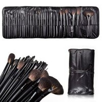 Amazon.com: 32 Count Super Professional Studio Brush Set with Leather Pouch, Graduation gift idea: Beauty