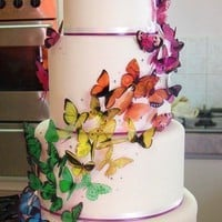 Martha Stewart Replica Wedding Cake by clearcutcrafts2007 on Etsy