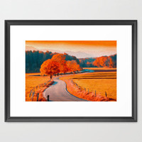 Seasonal Framed Art Print by Joel Olives | Society6