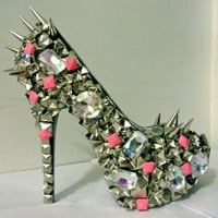 Pink Studded Out Pumps w/ Spikes (Nicki Minaj)