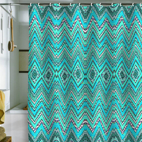 Ingrid Padilla Turquoise Whim Shower From DENY Designs