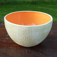 large Cantaloupe Bowl by vegetabowls on Etsy