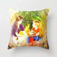 Our Christmas Throw Pillow by Vargamari | Society6