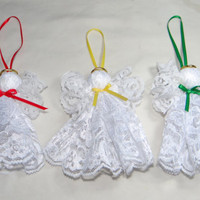 Lace Angel Christmas Ornament