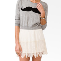 Mustache Graphic Sweater